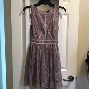 Lily Rose Junior Lace Lavender Dress X Small